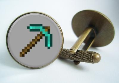 """""""Minecraft Pickaxe"""" Cufflinks"""
