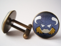 """Skyrim Viking Dragonborn"" Cufflinks"