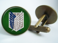 """Attack on Titan Survey Corps"" Cufflinks"