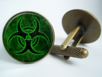 """Biohazard"" Cufflinks"
