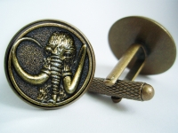 """Power Ranger Black Mastodon Coin"" Cufflinks"