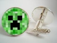 """Minecraft Creeper"" Cufflinks"
