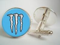 """Monster Energy Blue"" Cufflinks"