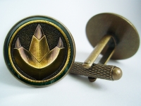 """Power Ranger Green Dragonzord Coin"" Cufflinks"